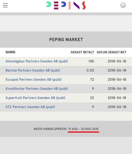Pepins Market
