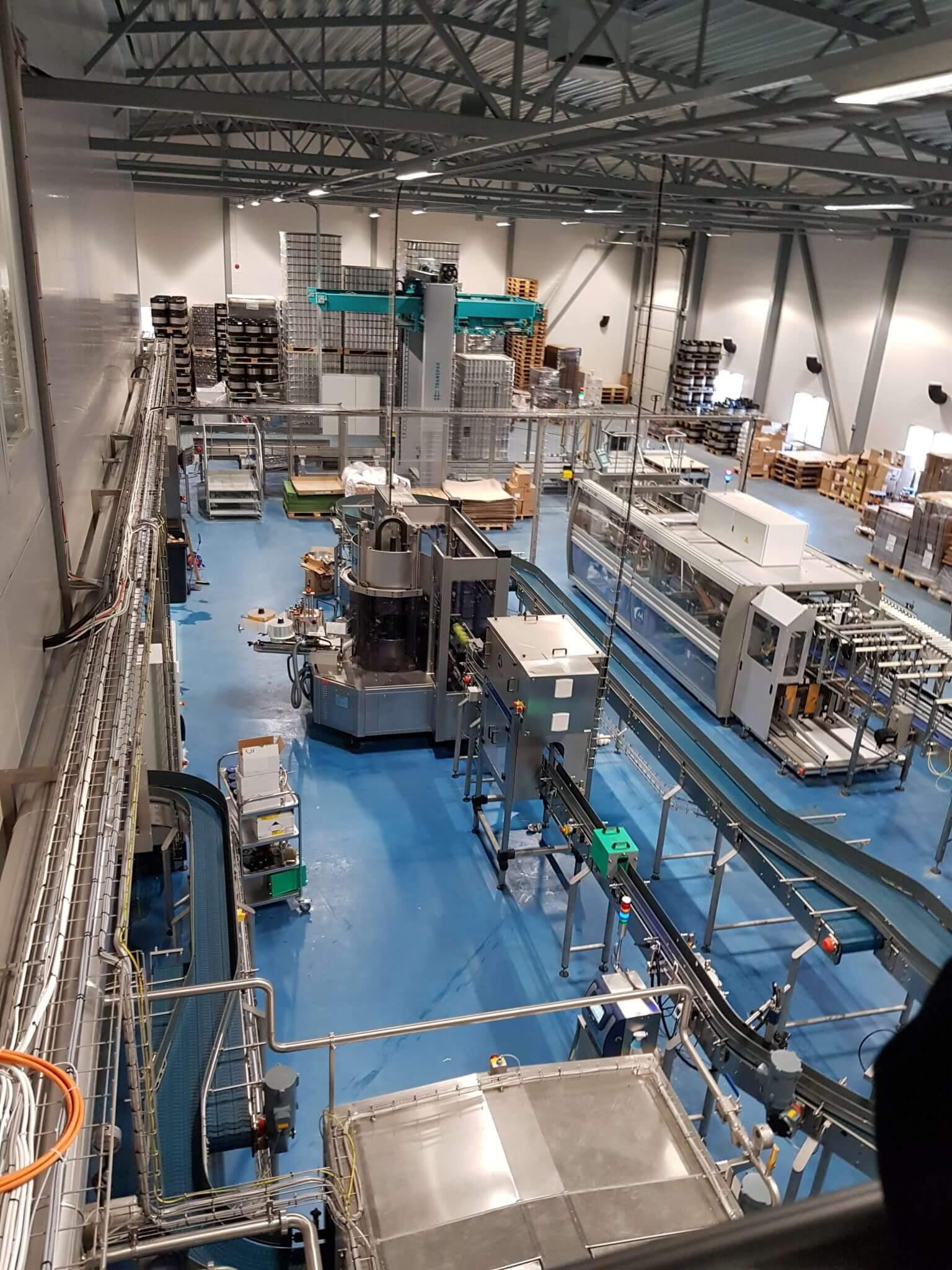 Del av det nya brygghuset på bryggeriet Stallhagen på Åland