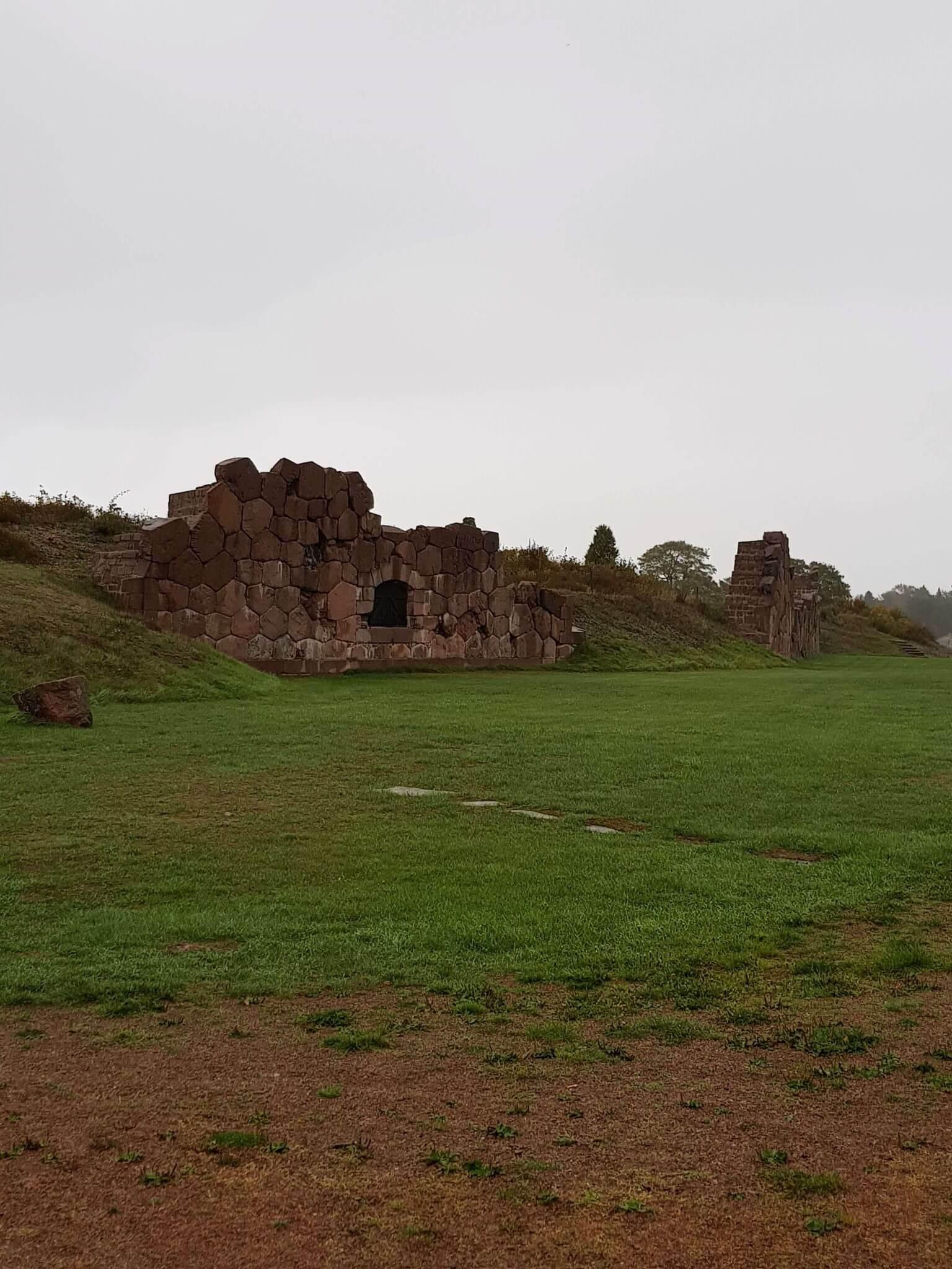 Delar av ruinerna på Bomarsunds fästning