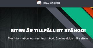 Global Gaming med varumärken som Ninja Casino blir av med sin svenska spellicens!