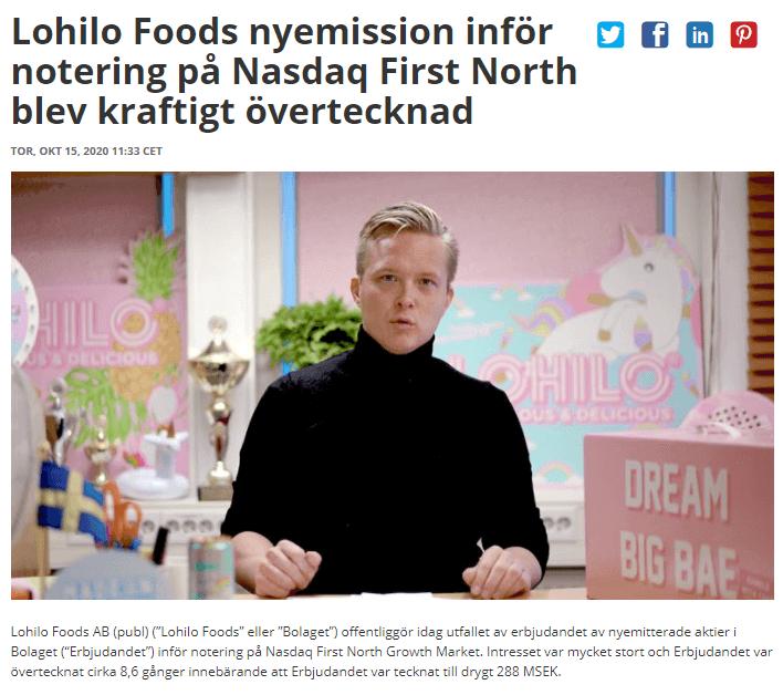 Ett fundamentalt fel vid börsnoteringar, illustrerat med LoHiLo Foods