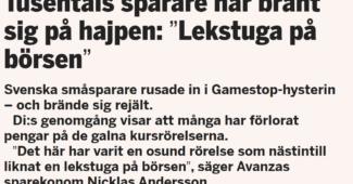 Stopp för GameStop. Bättre med indexfonder